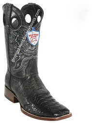 Men's Wild West Caiman Belly Wide Square Toe Boots Handcrafted 282TC8205