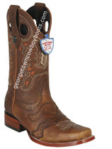 Men's Wild West Boots Genuine Leather Square Toe Handcrafted 281TC9951