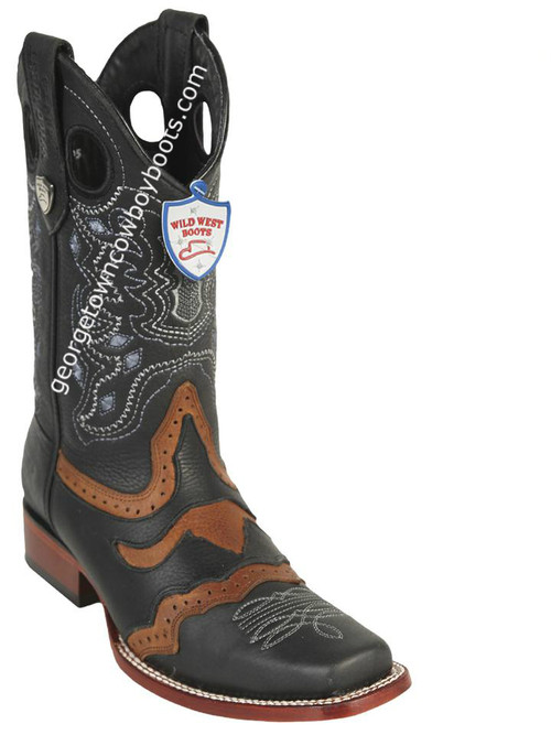 Men's Wild West Grisly Leather Square Toe Handcrafted 281TC2705
