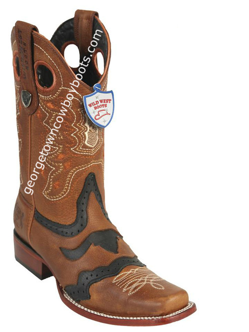 Men's Wild West Grisly Leather Square Toe Handcrafted 281TC2751
