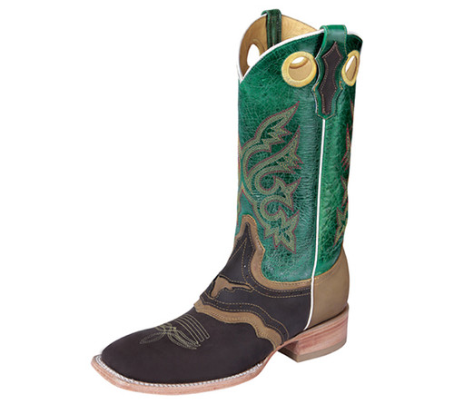 Green & Brown Boots