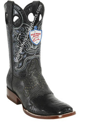 Men's Wild West Ostrich Leg Wide Square Toe Boots Handcrafted 282TC0505