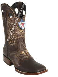 Men's Wild West Shark Wide Square Toe Boots Handcrafted 282TC9307