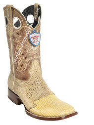 Men's Wild West Shark Wide Square Toe Boots Handcrafted 282TC9311