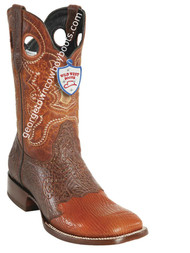 Men's Wild West Shark Wide Square Toe Boots Handcrafted 282TC9303