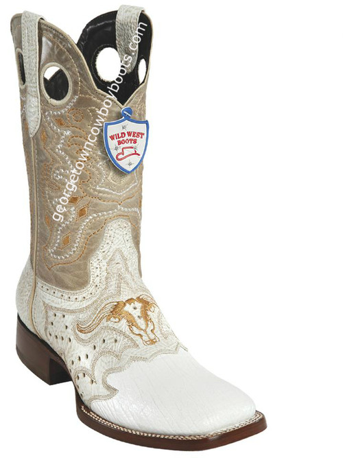 Men's Wild West Shark Wide Square Toe Boots Handcrafted 282TC9328