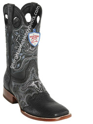 Men's Wild West Shark Wide Square Toe Boots Handcrafted 281TC9305