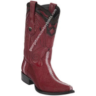 Men's Wild West Stingray Skin Boots Snip Toe Handcrafted 2941106