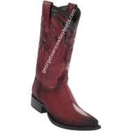 Men's Wild West Stingray Skin Boots Snip Toe Handcrafted 2941243