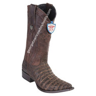 Men's Wild West Caiman Belly Snip Toe Boots Handcrafted 2948235