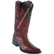 Men's Wild West Ostrich Boots Snip Toe Handcrafted 2940306