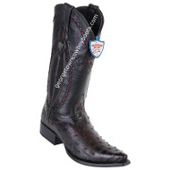 Men's Wild West Full Quill Ostrich Boots Snip Toe Handcrafted 2940318