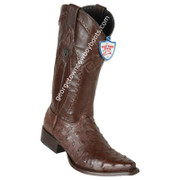 Men's Wild West Full Quill Ostrich Snip Toe Boots Handcrafted 2940307