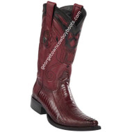 Men's Wild West Ostrich Leg Boots Snip Toe Handcrafted 2940543