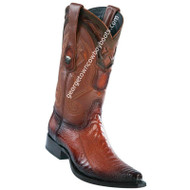 Men's Wild West Ostrich Leg Boots Snip Toe Handcrafted 2940557
