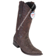 Men's Wild West Python Boots Snip Toe Handcrafted 294N5707