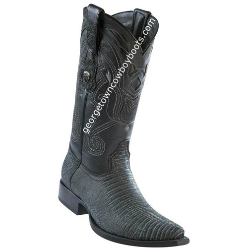 Men's Wild West Lizard Boots Snip Toe Handcrafted 2940774