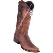 Men's Wild West Leather Boots Snip Toe Handcrafted 2949951