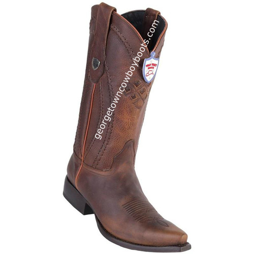 Men's Wild West Leather Boots Snip Toe Handcrafted 2949940