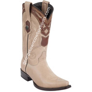 Men's Wild West Leather Boots Snip Toe Handcrafted 2942709