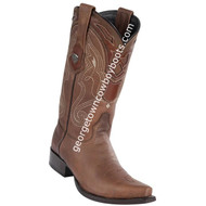 Men's Wild West Leather Boots Snip Toe Handcrafted 2942707
