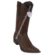 Men's Wild West Caiman Belly 3x Toe Boots Handcrafted 2958235