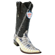 Men's Wild West Caiman Belly 3x Toe Boots Handcrafted 2958249