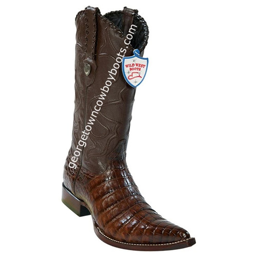 Men's Wild West Caiman Belly 3x Toe Boots Handcrafted 2958207