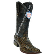 Men's Wild West Caiman Belly 3x Toe Boots Handcrafted 2958285