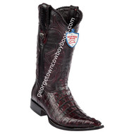 Men's Wild West Caiman Tail 3x Toe Boots Handcrafted 2950118
