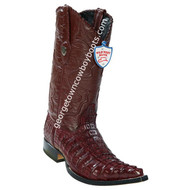 Men's Wild West Caiman Tail 3x Toe Boots Handcrafted 2950106