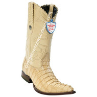 Men's Wild West Caiman Tail 3x Toe Boots Handcrafted 2950111