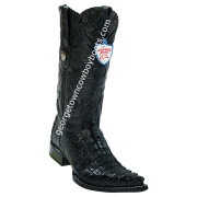 Men's Wild West Caiman Tail 3x Toe Boots Handcrafted 2950105