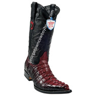 Men's Wild West Caiman Tail 3x Toe Boots Handcrafted 2950129