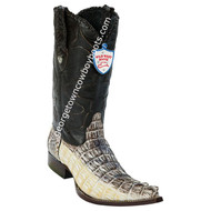 Men's Wild West Caiman Tail 3x Toe Boots Handcrafted 2950149