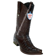Men's Wild West Caiman Tail 3x Toe Boots Handcrafted 2950107