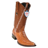 Men's Wild West Caiman Tail 3x Toe Boots Handcrafted 2950103