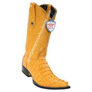 Men's Wild West Caiman Tail 3x Toe Boots Handcrafted 2950102