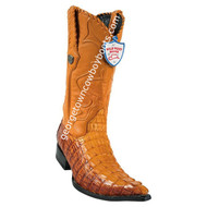 Men's Wild West Caiman Tail 3x Toe Boots Handcrafted 2950176