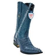 Men's Wild West Caiman Tail 3x Toe Boots Handcrafted 2950114