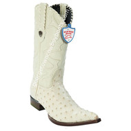 Men's Wild West Full Quill Ostrich 3x Toe Boots Handcrafted 2950304