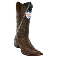 Men's Wild West Full Quill Ostrich 3x Toe Boots Handcrafted 2950307