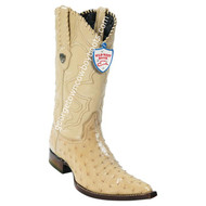 Men's Wild West Full Quill Ostrich 3x Toe Boots Handcrafted 2950311