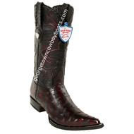 Men's Wild West Full Quill Ostrich 3x Toe Boots Handcrafted 2950318