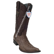 Men's Wild West Ostrich Leg 3x Toe Boots Handcrafted 295G0507