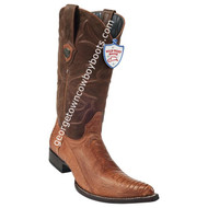 Men's Wild West Ostrich Leg 3x Toe Boots Handcrafted 295G0503