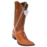 Men's Wild West Ostrich Leg 3x Toe Boots Handcrafted 2950503