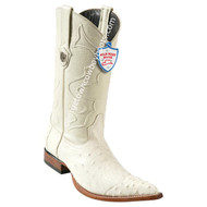 Men's Wild West Smooth Ostrich 3x Toe Wing Tip Boots Handcrafted 2950404