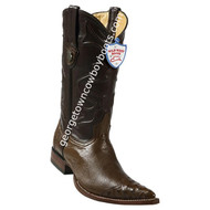 Men's Wild West Smooth Ostrich 3x Toe Wing Tip Boots Handcrafted 2950407