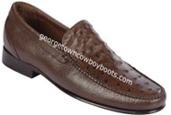Men's Lombardy Ostrich Casual Shoes ZLA040307